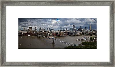 St Paul's And The City Panorama Framed Print by Gary Eason
