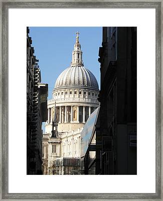 St Pauls Cathedral - London Framed Print by Dickon Thompson