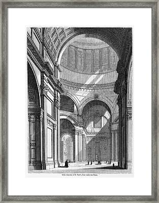 St. Paul's Cathedral, Historical Artwork Framed Print by Middle Temple Library