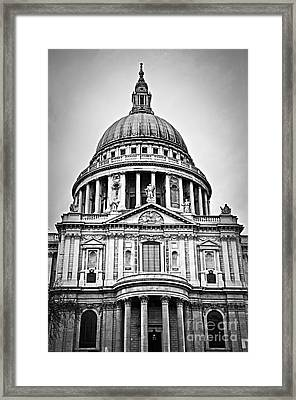 St. Paul's Cathedral In London Framed Print
