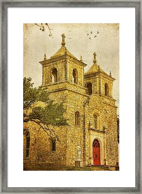 Framed Print featuring the photograph St. Peter The Apostle Church by Joan Bertucci