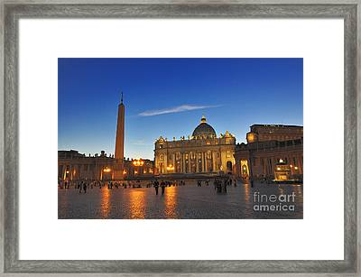 St Peters Basilica Framed Print by Ed Rooney