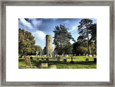 St Peters Church Forncett Norfolk England Framed Print by Darren Burroughs