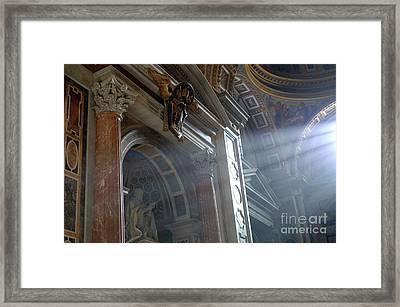 St Peters Light Framed Print
