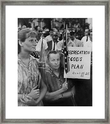 St. Petersberg, Florida Demonstrators Framed Print by Everett