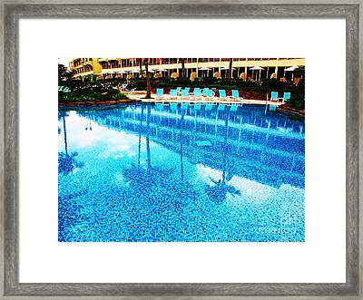Framed Print featuring the photograph St. Regis Pool by Michele Penner