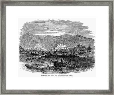 St. Thomas: Earthquake Framed Print by Granger