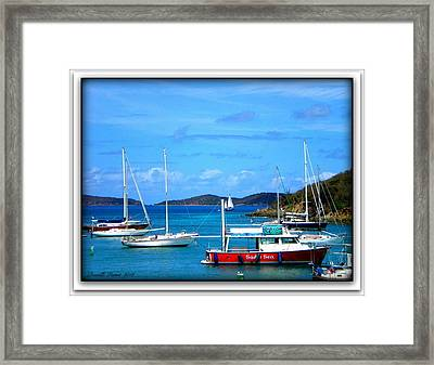 Framed Print featuring the photograph St-thomas Virgin Islands by Danielle  Parent