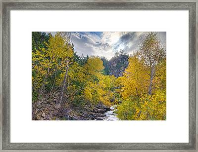 St Vrain Canyon Autumn Colorado View Framed Print