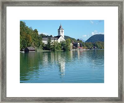 Framed Print featuring the photograph St Wolfgang Austria by Joseph Hendrix