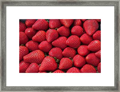 Stack Of Strawberries Framed Print by Dina Calvarese