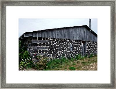 Framed Print featuring the photograph Stacked Block Barn by Barbara McMahon