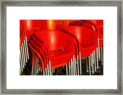 Stacked Chairs Framed Print