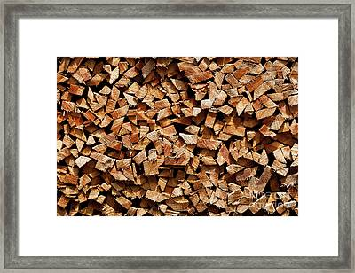 Framed Print featuring the photograph Stacked Cord Wood by Charles Lupica