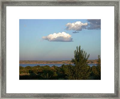 Stacked Cumulus Framed Print