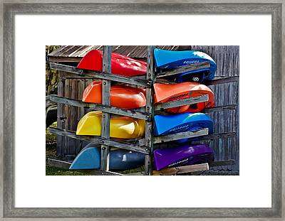 Stacked Emotions Framed Print by DigiArt Diaries by Vicky B Fuller