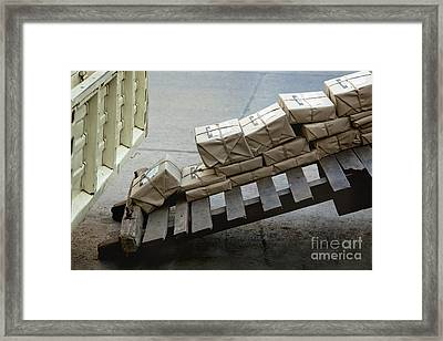 Stacked Mail Packages Framed Print