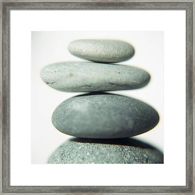 Stacked Pebbles Framed Print by Cristina Pedrazzini