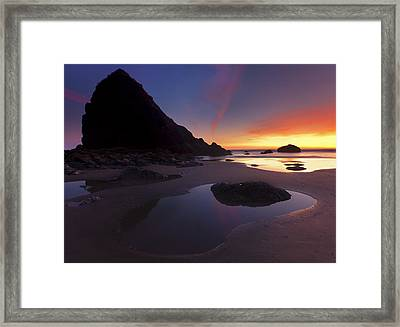 Stacked Reflections Framed Print by Mike  Dawson
