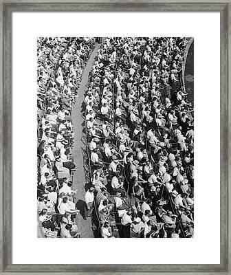 Stadium Crowd Framed Print by George Marks