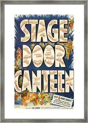 Stage Door Canteen Framed Print