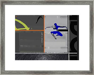 Stage Flight Framed Print by Naxart Studio