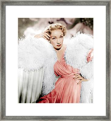 Stage Fright, Marlene Dietrich Wearing Framed Print