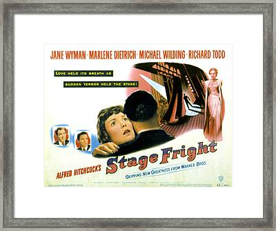 Stage Fright, Michael Wilding, Richard Framed Print by Everett