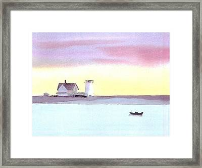 Stage Harbor Framed Print by Joseph Gallant