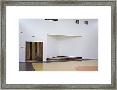 Stage In Hall Of Viimsi Kindergarten Framed Print