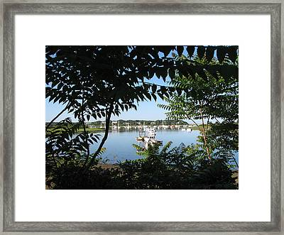 Stage Island Framed Print by Heather Gwyn Twomey