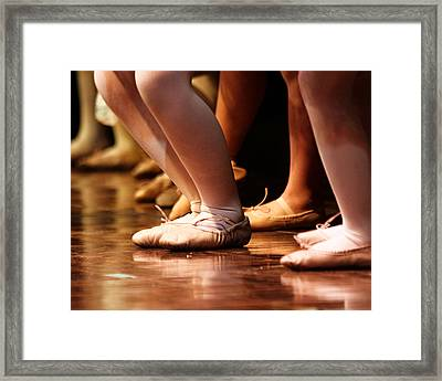 Stage Slippers Framed Print by Lauri Novak