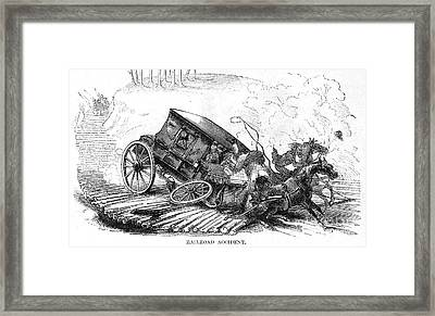 Stagecoach Accident, 1856 Framed Print by Granger