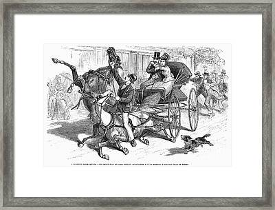 Stagecoach Accident Framed Print