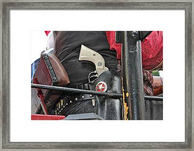 Framed Print featuring the photograph Stagecoach Guard by Bill Owen