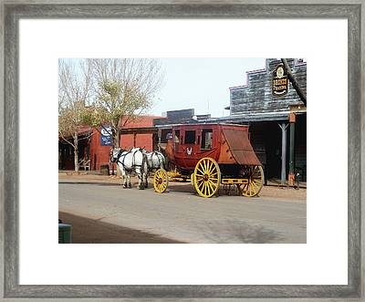 Stagecoach Framed Print