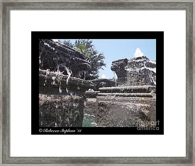 Staggered Tiers Framed Print