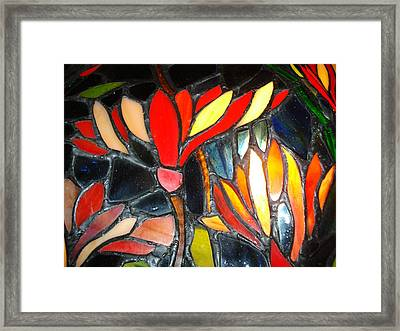 Stained Glass Four Framed Print