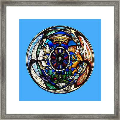Stained Glass In The Sphere Framed Print by Robert Gipson