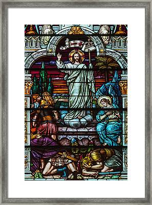 Stained Glass Jesus Framed Print by Anthony Citro
