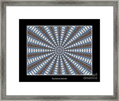 Stained Glass Kaleidoscope 32 Framed Print by Rose Santuci-Sofranko
