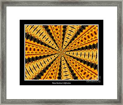 Stained Glass Kaleidoscope 37 Framed Print by Rose Santuci-Sofranko