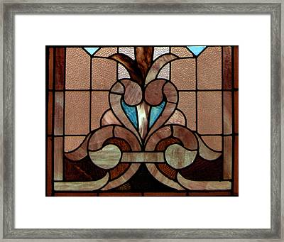 Stained Glass Lc 06 Framed Print by Thomas Woolworth