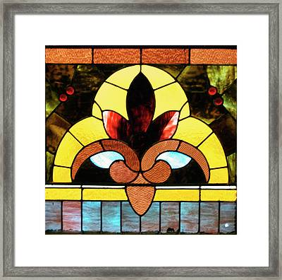 Stained Glass Lc 07 Framed Print by Thomas Woolworth