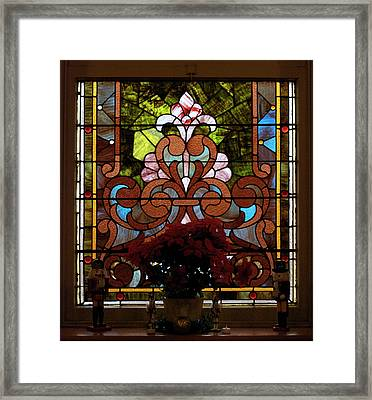 Stained Glass Lc 17 Framed Print by Thomas Woolworth