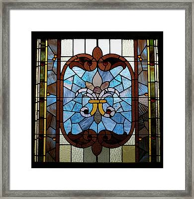 Stained Glass Lc 19 Framed Print by Thomas Woolworth