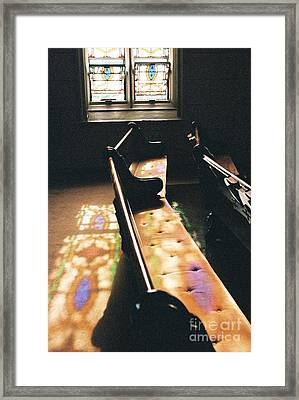 Stained Glass Splill Framed Print by Amy Snyder