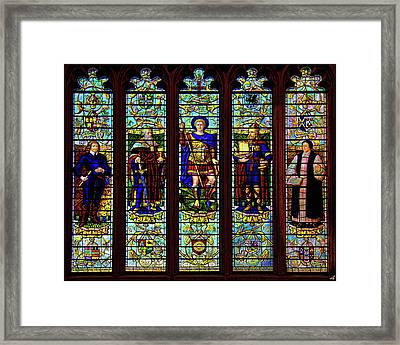 Stained Glass Window Framed Print by Chris Lord