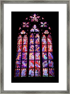 Stained Glass Window II Framed Print