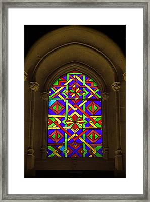 Stained Glass Window In Mezquita Framed Print